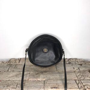 Vintage Black Gucci Round Bag